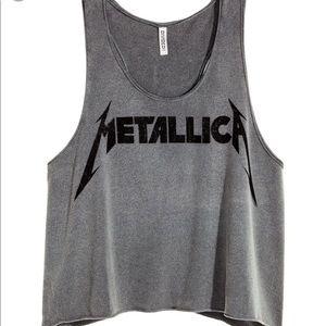Metallica crop tank